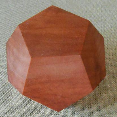 Dodekaeder aus Vollholz klein Apfel