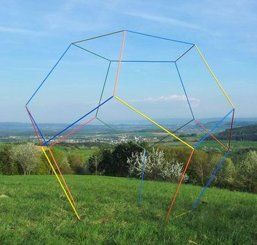 Dodekaeder, begehbar in bunt