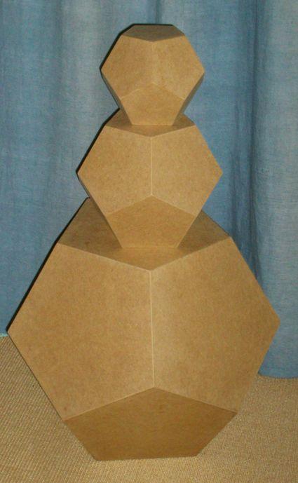 platonische Körper -> MDF Holz-Dodekaeder Pentagondodekaeder