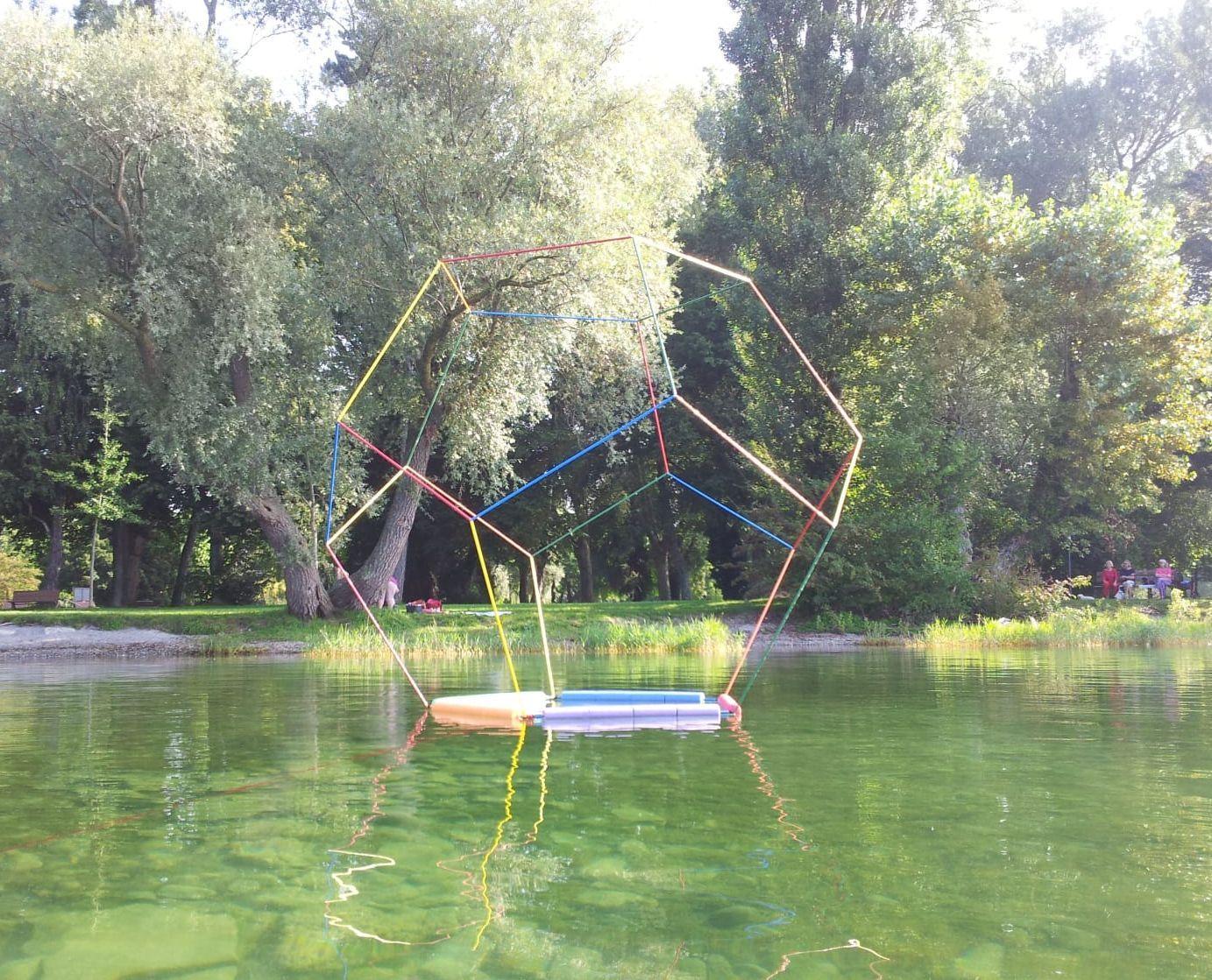 Dodekaeder auf dem Bodensee bei Radolfzell